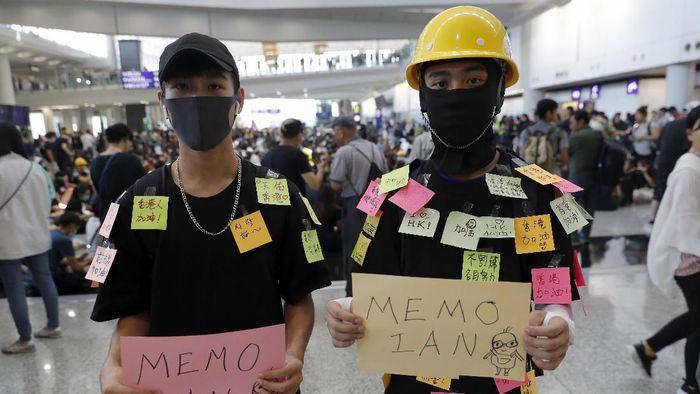 Aksi demo di Hong Kong/Foto: Vincent Thian/AP Photo