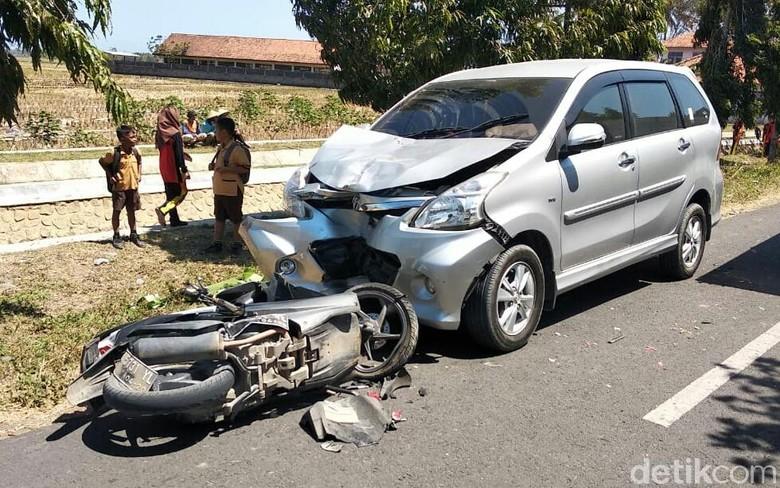 Kecelakaan lalu lintas di Purworejo, seorang pemotor tewas, (10/8/2019).