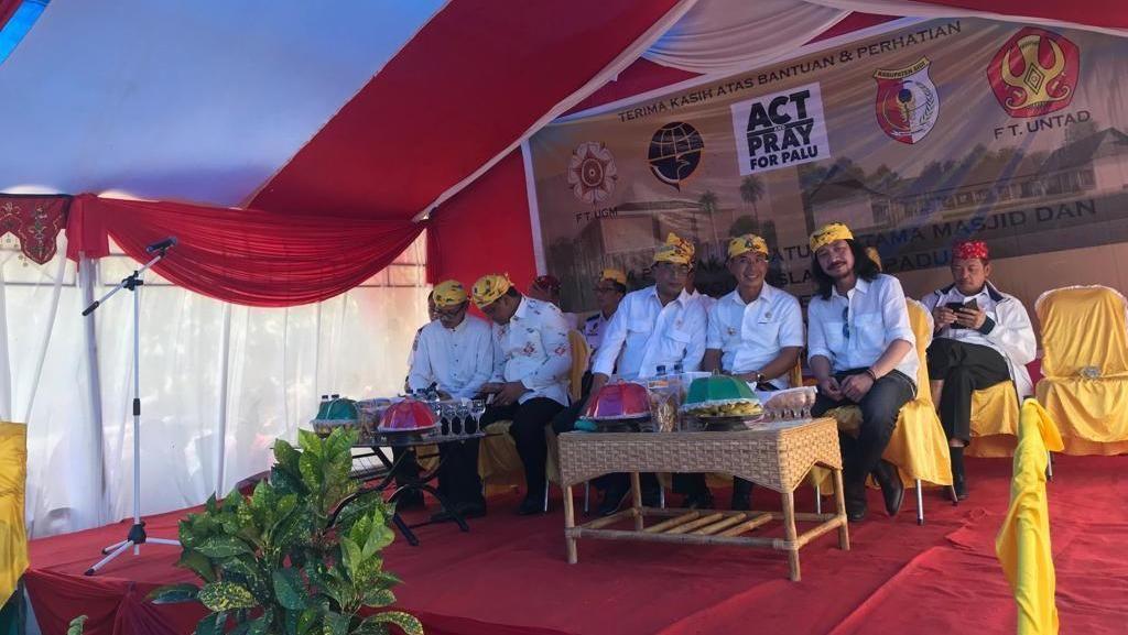 Menhub & Abdee Slank Bangun Masjid dan Sekolah di Lokasi Gempa Palu
