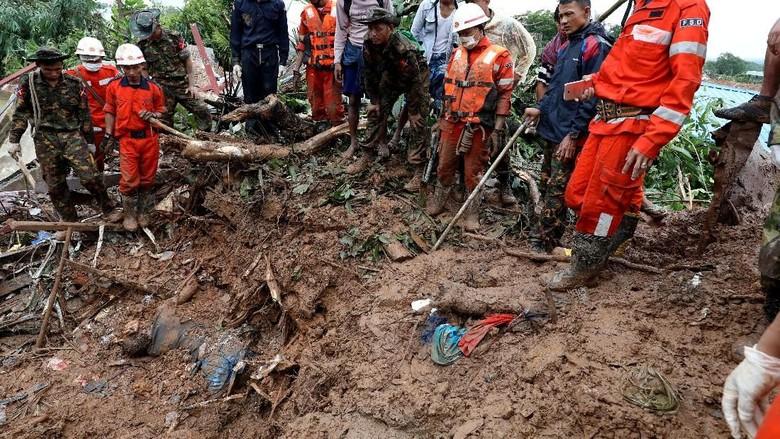 Korban Tewas Tanah Longsor Myanmar Bertambah Jadi 59 Orang