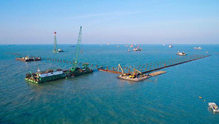 Proyek Pelabuhan Patimban di Subang Jawa Barat/Foto: Wijaya Karya