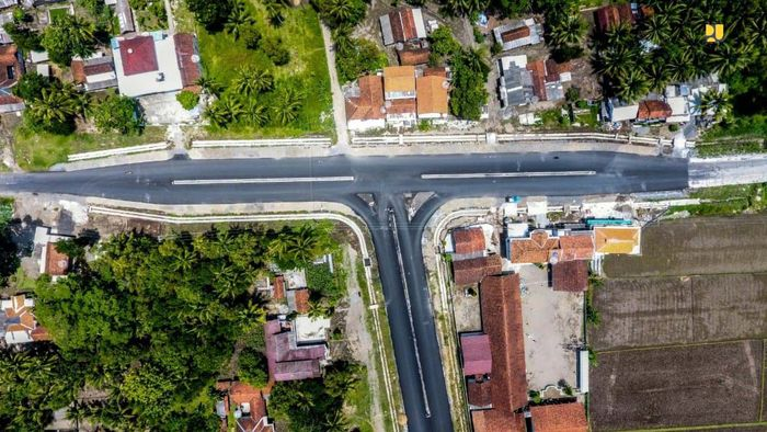 Salah satu ruas Pansela yang telah rampung ditangani berada di Provinsi Jawa Tengah (Jateng) yakni ruas Tambakmulyo-Congot sepanjang 52,6 km. Pool/Kementerian PUPR.