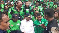 Ratusan Driver Gojek Rayakan Idul Adha Bareng Menhub