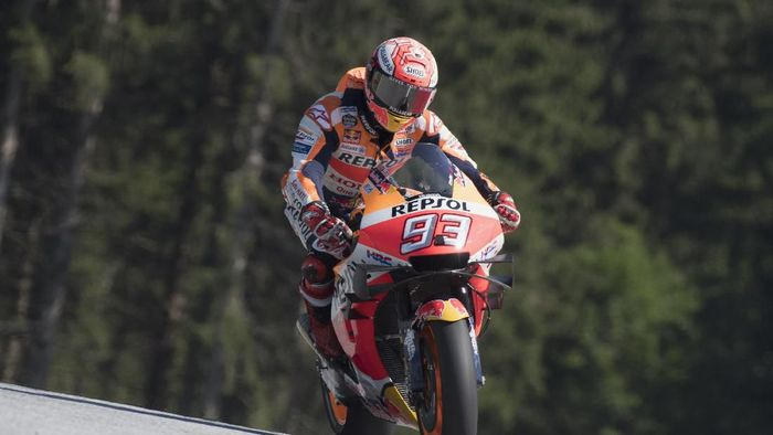 Marc Marquez finis kedua di MotoGP Austria. (Foto: Mirco Lazzari gp/Getty Images)
