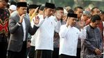 Momen Jokowi Salat Idul Adha di Kebun Raya Bogor