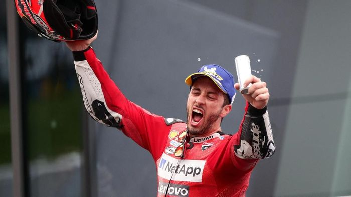 Andrea Dovizioso juara MotoGP Austria (Foto: Lisi Niesner/Reuters)