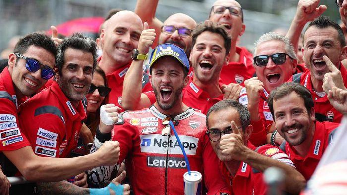 Ducati masih optimistis bisa mengejar Marc Marquez karena masihi mungkin secara matematis. (Foto: Lisi Niesner / Reuters)
