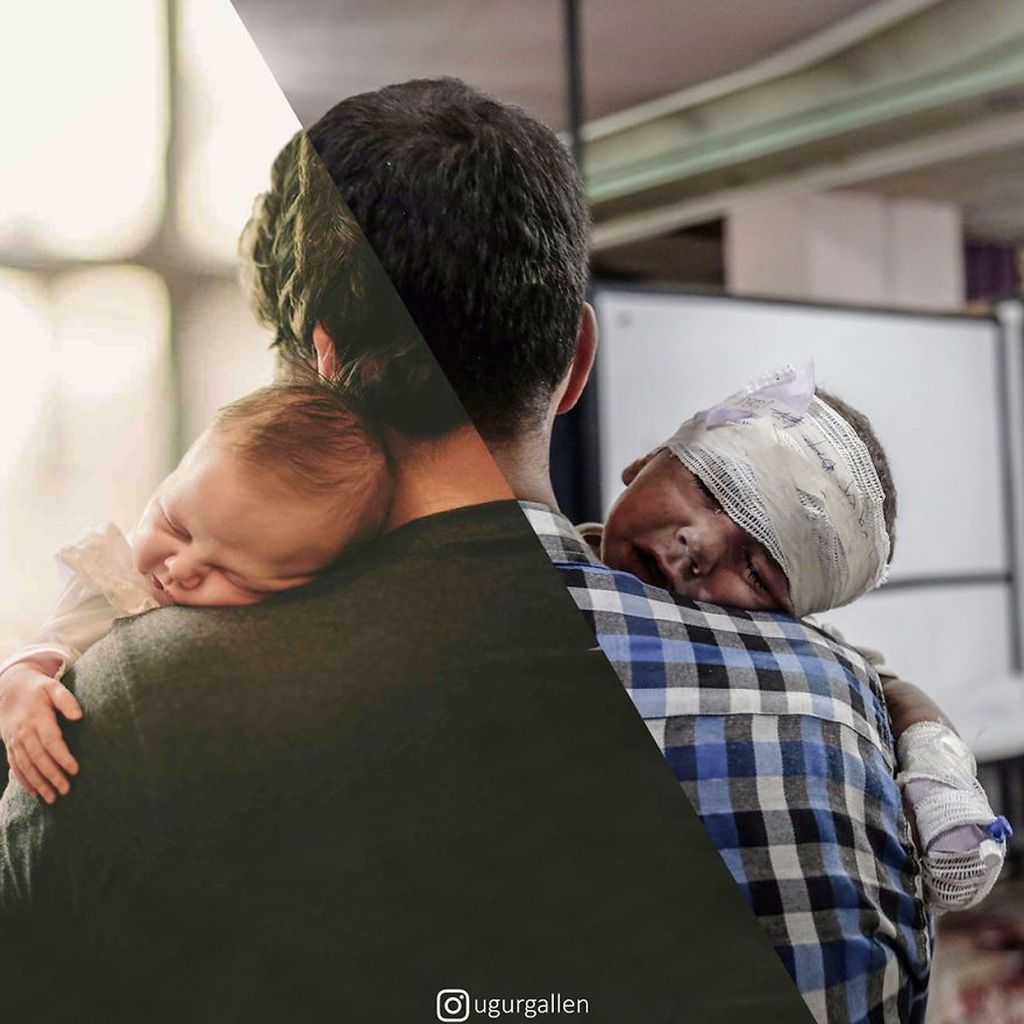 Ayah dan buah hatinya. Foto: Uğur Gallenkuş