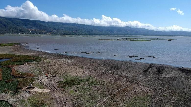 Potret Danau Limboto di Gorontalo yang Mulai Mengering