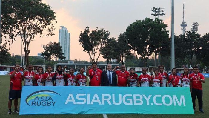Tim Rugby Indonesia finsi keenam di Asia Rugby Sevens 2019 (dok.Rugby Indonesia)