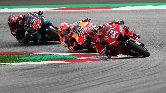 Andrea Dovizioso merasa ia akan bersaing dengan empat pebalap lain untuk finis di belakang Marc Marquez (Foto: Lisi Niesner / Reuters)