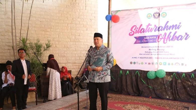 Rayakan Idul Adha, KBRI Kairo Gelar Silahturahmi Akbar dengan WNI