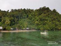 Pesisir pantai yang indah di Kwatisore (Muhammad Catur Nugraha/d'Traveler)