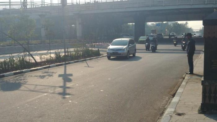 Ganjil-genap di Jalan Pramuka (Jefrie Nandy Satria/detikcom)