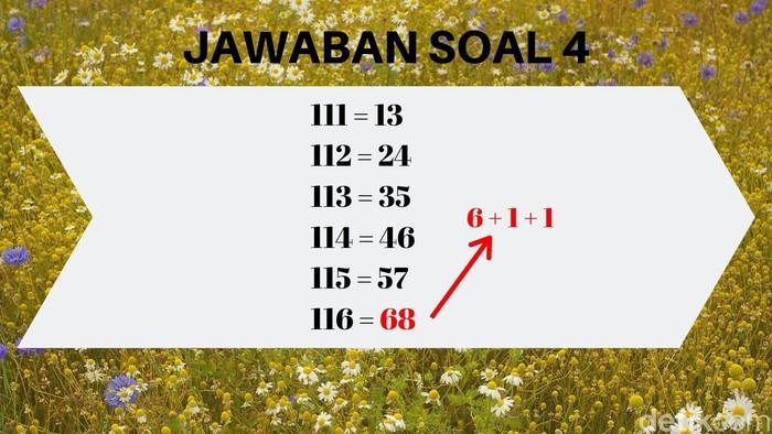 Jadikan angka terakhir untuk angka pertama, kemudian jumlahkan angka terakhir dengan dua angka yang ada di awal untuk diletakkan di akhir. (Foto: detikHealth)