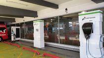 Penampakan SPLU untuk Cas Mobil Listrik di Jakarta