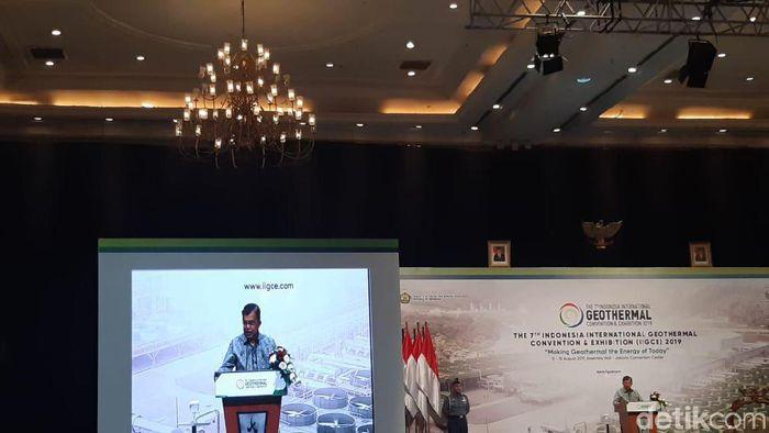 Wapres Jusuf Kalla di acara pengusaha panas bumi/Foto: Achmad Dwi Afriyadi/detikFinance