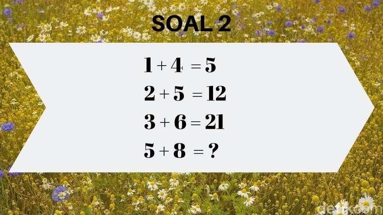 Ini yang pernah populer, yaitu teka teki matematika 1+4=5, masih ingat? (Foto: detikHealth)