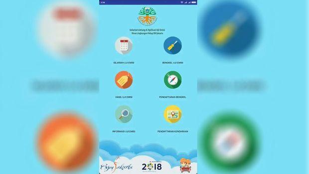 Pemerintah Provinsi DKI Jakarta meluncurkan aplikasi e-uji emisi hari ini Selasa (13/8).
