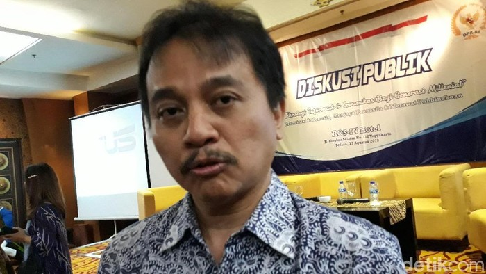 Politikus Partai Demokrat, Roy Suryo, Selasa (13/8/2019).
