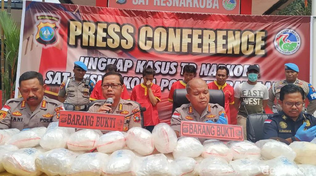Selundupkan Sabu 38 Kg di Batam, 4 Tersangka Terancam Hukuman Mati
