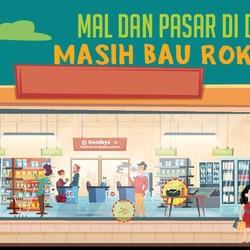Infografis: Mal dan Pasar di DKI Masih Bau Rokok!