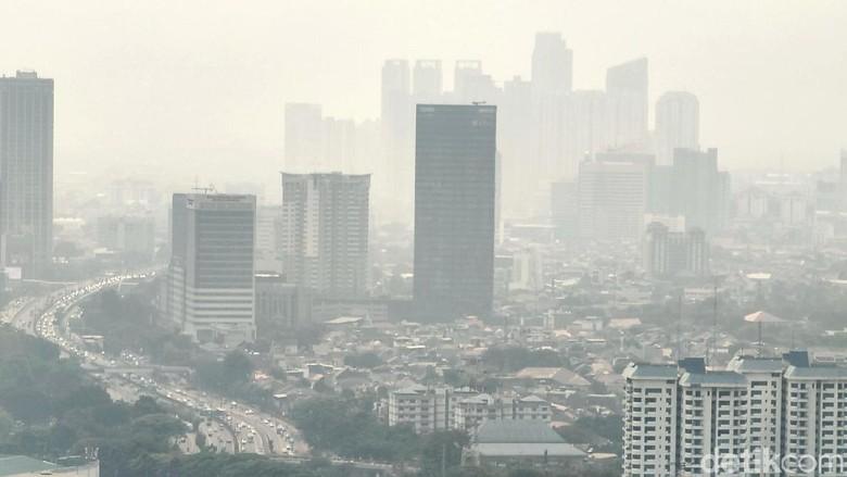 Potret Polusi Jakarta Foto: Rachman Haryanto