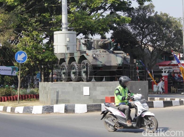 Dua Tank Kini Hiasi Taman Perjuangan Kota Militer Cimahi