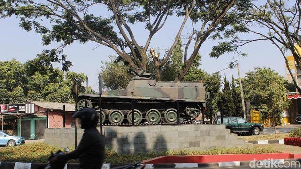 Dua Tank Kini Hiasi Taman Perjuangan Kota 'Militer' Cimahi