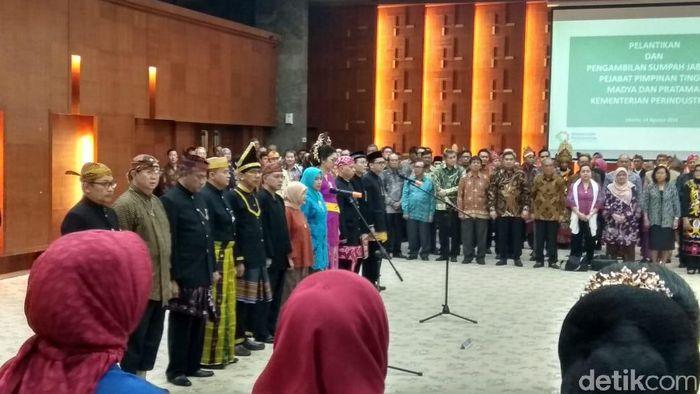 Foto: Pelantikan Pejabat Kemenperin/Trio Hamdani