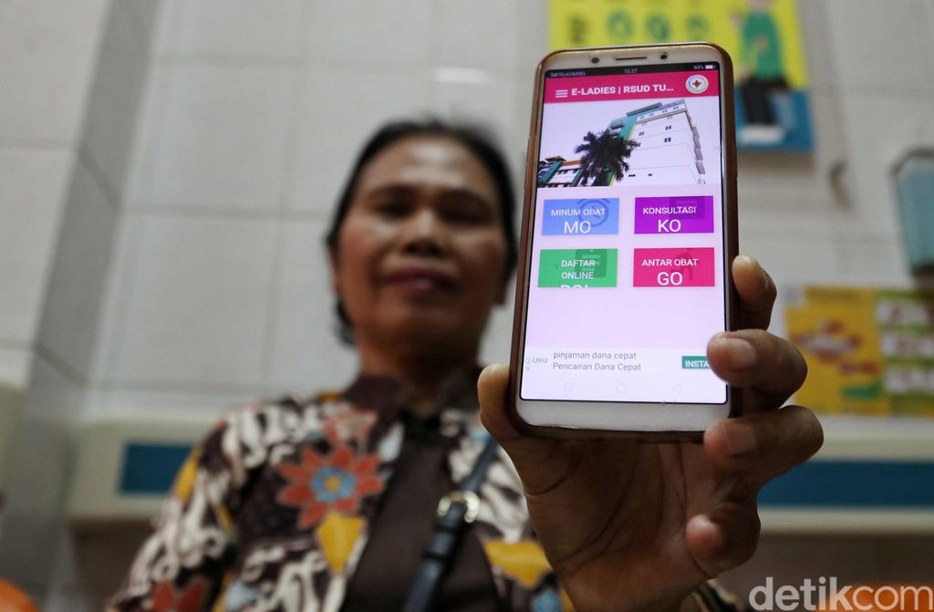 Aplikasi e-Ladies tersebut mampu memudahkan layanan bagi penyandang disabilitas dan lansia untuk memeriksakan kesehatannya.