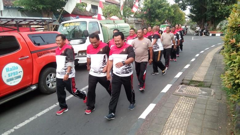 Kegemukan, Puluhan Polisi di Bali Dilatih Turunkan Berat Badan