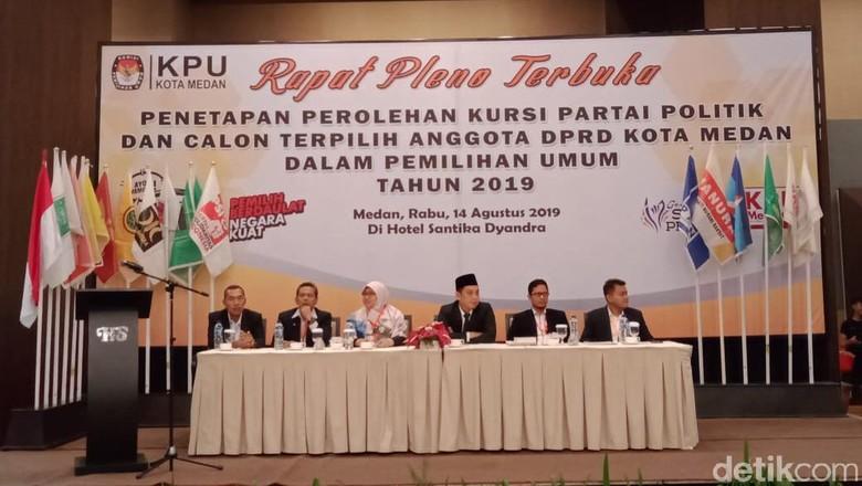 PDIP dan Gerindra Imbang di Medan, Sama-sama Raih 10 Kursi DPRD