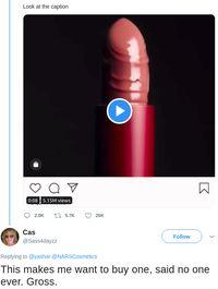 Nars Rilis Lipstik Terbaru, Diolok-olok Netizen karena Mirip Alat Kelamin