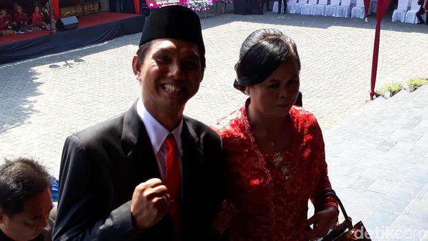 Kader PSI Antonius Yogo Prabowo yang ngontel ke acara pelantikan anggota DPRD Surakarta.