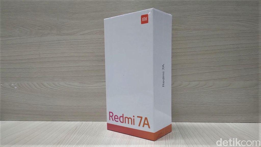 Kotak kemasan Redmi 7A. Foto: Adi Fida Rahman/detikINET