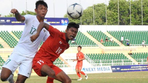 Timnas Indonesia U-18 bermain imbang 1-1 lawan Myanmar. (