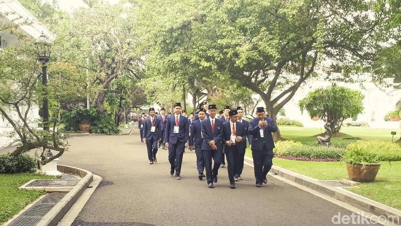 Hendak Tanding di Rusia, Delegasi World Skills Bertemu Jokowi di Istana