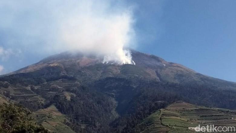 Puluhan Relawan Dikerahkan Padamkan Api di Lereng Gunung Sumbing