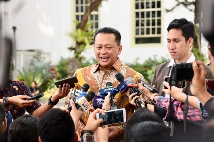Ketua DPR RI Bambang Soesatyo (Bamsoet) di Istana Kepresidenan, Jakarta.