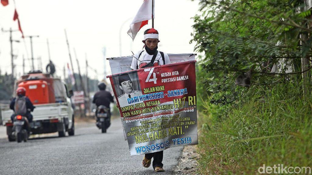 Aksi Jalan Kaki Wonosobo-Jakarta Sambut HUT RI