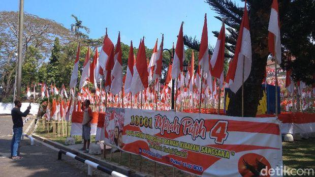 Sambut Kemerdekaan, Ribuan Bendera Merah-Putih Berkibar di Linggarjati