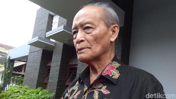 Buya Syafii Maarif di rumahnya, Sleman, Kamis (15/8/2019).