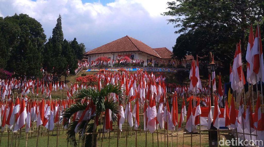 Penampakan Ribuan Bendera Merah Putih Penuhi Perundingan Linggarjati