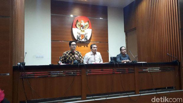 Jumpa pers KPK soal kasus dugaan suap restitusi pajak, Kamis (15/8/2019)
