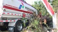 Truk Pertamina Kecelakaan di Jombang, Stok Avtur di Madiun Aman