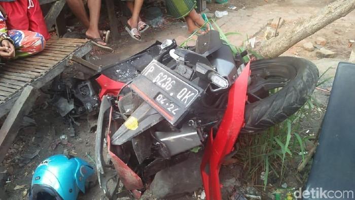 Motor korban (Foto: Suparno)