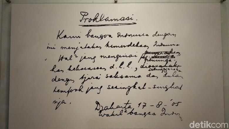 Display Teks Proklamsi di Museum Perumusan Naskah Proklamasi (Tasya/detikcom)