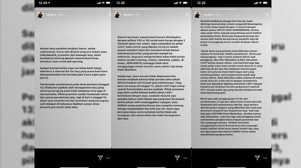 Iqbaal Tuduh LANY Bohongi Fan Soal Kisruh Konser