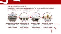 HUT RI ke-74, Gratis Masuk 4 Museum Jakarta Ini